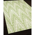 Indoor/Outdoor Green Ikat Area Rug (3'11 x 5'7)