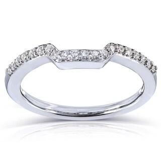 Annello 14k Gold 1/6 ct TDW Women's Contoured Diamond Wedding Band (G-H, I1-I2)