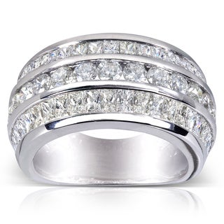Annello 10k White Gold 3 5/8 ct TDW Diamond Anniversary Band (H-I, VS1-VS2)
