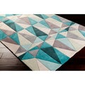 Hand-tufted Diamonds Blue Contemporary Geometric Rug (5' x 8')