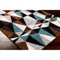 Hand-tufted Kaleidoscope Brown Contemporary Geometric Rug (5' x 8')