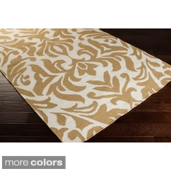 Hand-woven 'Market Place' Contemporary Damask Rug (5' x 8')