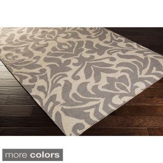 Hand-woven 'Market Place' Transitional Damask Rug (5' x 8')