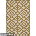 Hand-woven 'Market Place' Contemporary Lattice Print Rug (5' x 8')