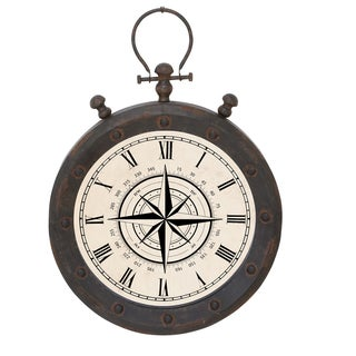 Casa Cortes Weathered Compass Hanging Wall Clock