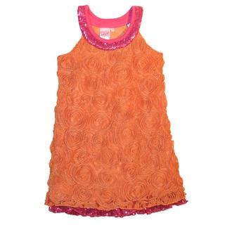 Lipstik Girls Orange and Fuschia Sequin Dress