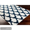 Hand-tufted Trellis Contemporary Trellis Rug (5' x 8')