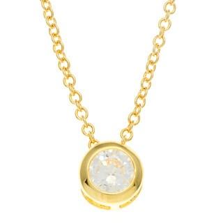 Kate Bissett 14k Gold Bonded CZ Pendant Necklace