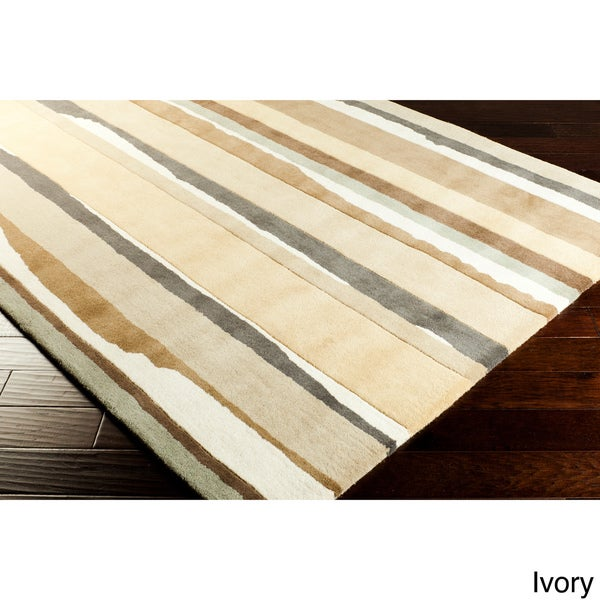 Hand-tufted Sanderson Stripe Rug (5' x 8')