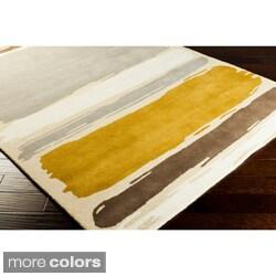 Hand-tufted Sanderson Geometric Stripe Rug (5' x 8')