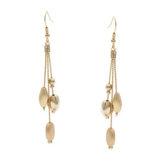 Kate Bissett 14k Gold Overlay Beaded Drop Earrings