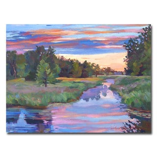 David Lloyd Glover 'Moody River' Canvas Art