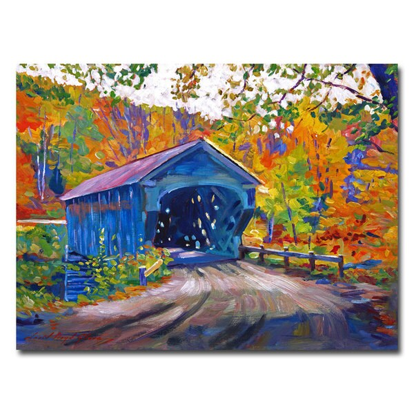 David Lloyd Glover 'Fall Comes to Downer VT' Canvas Art