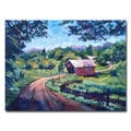 David Lloyd Glover 'Bridges of East Randolph VT' Canvas Art