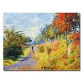 David Lloyd Glover 'The Sheltered Path' Canvas Art