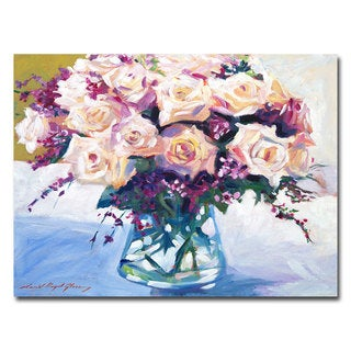 David Lloyd Glover 'Roses in Glass' Canvas Art