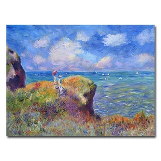 David Lloyd Glover 'On the Bluff at Pourville' Canvas Art
