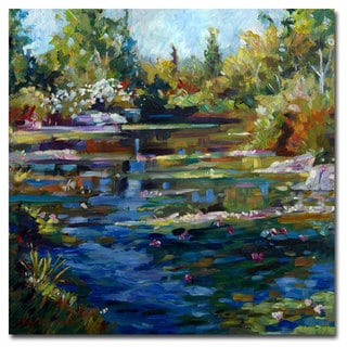 David Lloyd Glover 'Blooming Lily Pond' Canvas Art