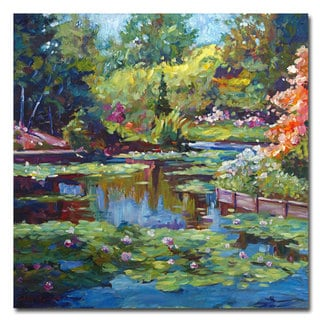 David Lloyd Glover 'Serenity Pond' Canvas Art