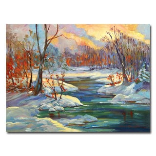 David Lloyd Glover 'Approaching Winter' Canvas Art