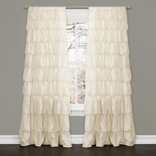 Lush Decor Ivory 84-inch Ruffle Curtain Panel