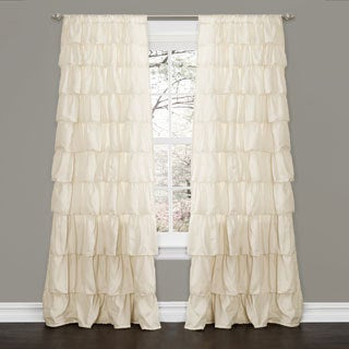 Lush Decor Ivory 84-inch Ruffle Curtain Panel