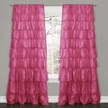 Lush Decor Pink 84-inch Ruffle Curtain Panel