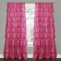 Lush Decor Pink 84-inch Ruffle Curtain Panel