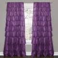 Lush Decor Purple 84-inch Ruffle Curtain Panel
