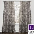 Lush Decor Grey 84-inch Ruffle Curtain Panel