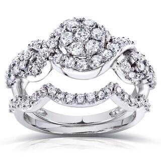 Annello 14k Gold 1ct TDW  Diamond Braided Bridal Set (H-I, I1-I2)