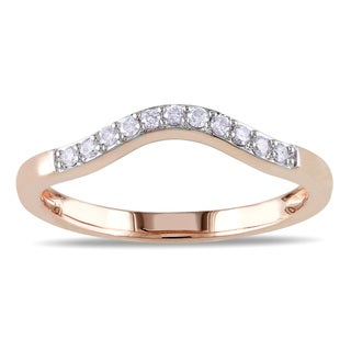 Miadora 10k Rose Gold 1/10ct TDW Diamond Wedding Band (G-H, I2-I3)