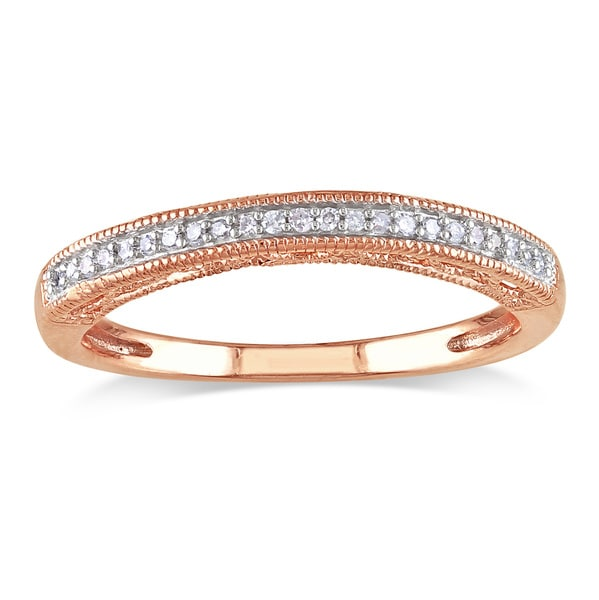 Miadora 14k Rose Gold Diamond Wedding Band (G-H, I2-I3)