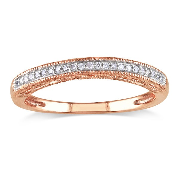 Miadora 14k Rose Gold Diamond Wedding Band (G-H, I2-I3)