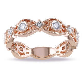 Miadora 14k Rose Gold 1/4ct TDW Diamond Ring (G-H, I1-I2)