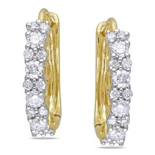 Miadora 14k Yellow Gold 1/2ct TDW Diamond Cuff Earrings (G-H, I1-I2)
