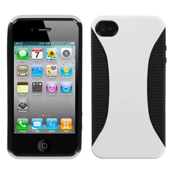 INSTEN White/ Black Mixy Phone Case Cover for Apple iPhone 4S/ 4