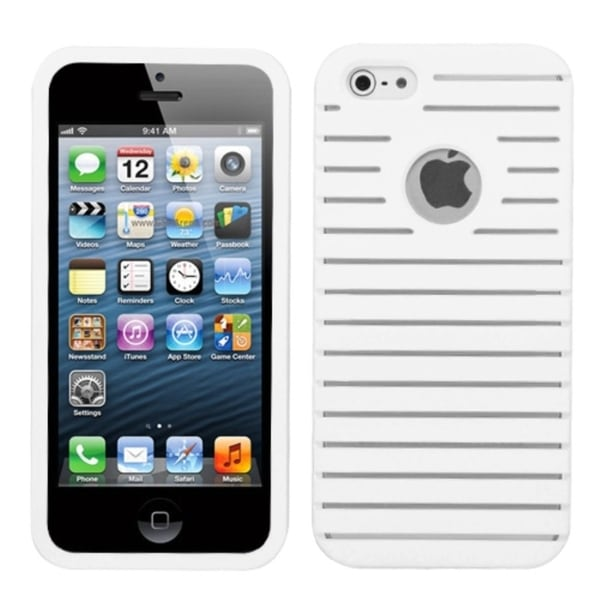INSTEN White Railing Phone Case Cover for Apple iPhone 5
