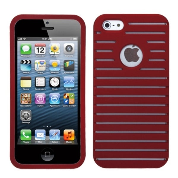 INSTEN Red Railing Phone Case Cover for Apple iPhone 5