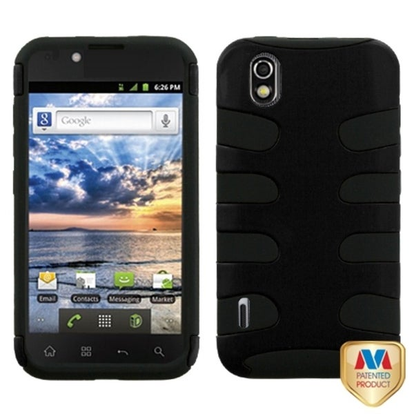 INSTEN Black Fishbone Phone Case Cover for LG LS855 Marquee