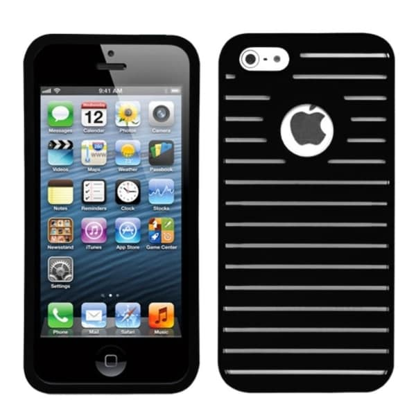 INSTEN Black Railing Phone Case Cover for Apple iPhone 5