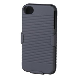 BasAcc Black Hybrid Holster for Apple iPhone 4S/ 4