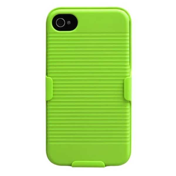 BasAcc Apple Green Hybrid Holster for Apple iPhone 4S/