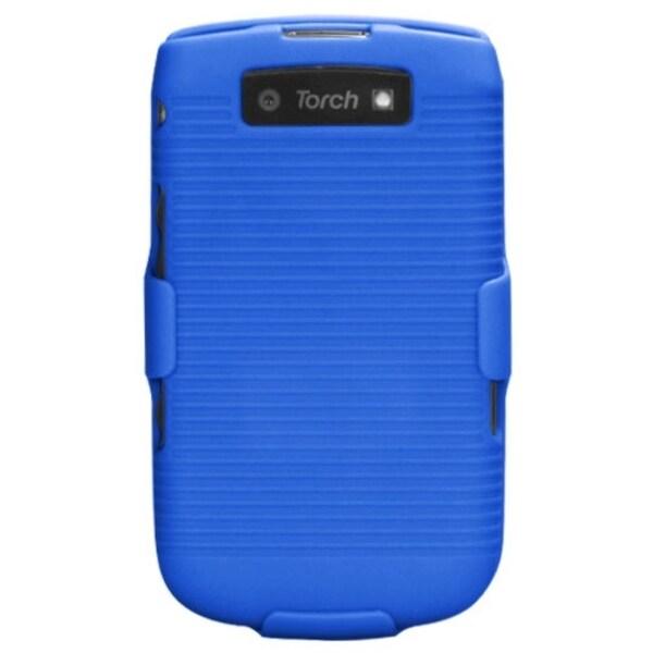 INSTEN Blue Hybrid Holster for Blackberry Torch 9800/ 9810 4G