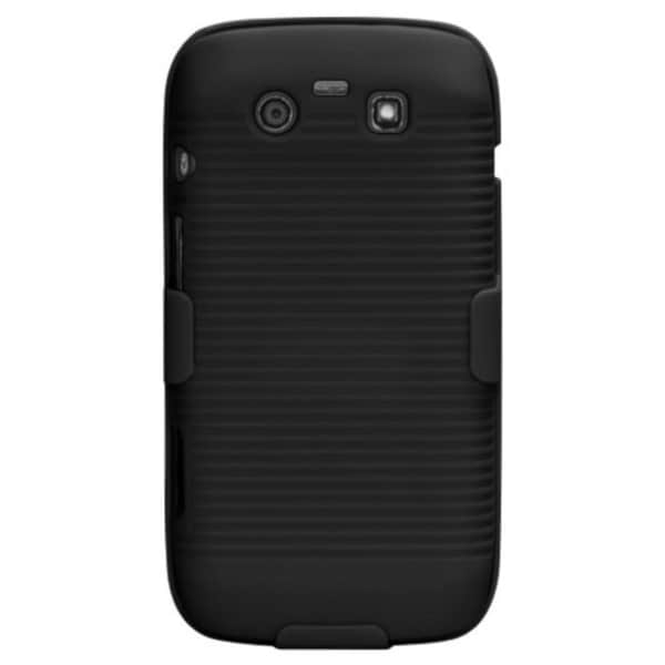 INSTEN Black Hybrid Holster for Blackberry Torch 9850/ 9860 Torch