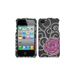 BasAcc Rosey Diamante Phone Case for Apple iPhone 4S/ 4