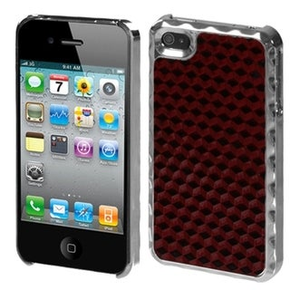 BasAcc Red/ Alloy/Silver Diamond Case for Apple iPhone 4S/ 4