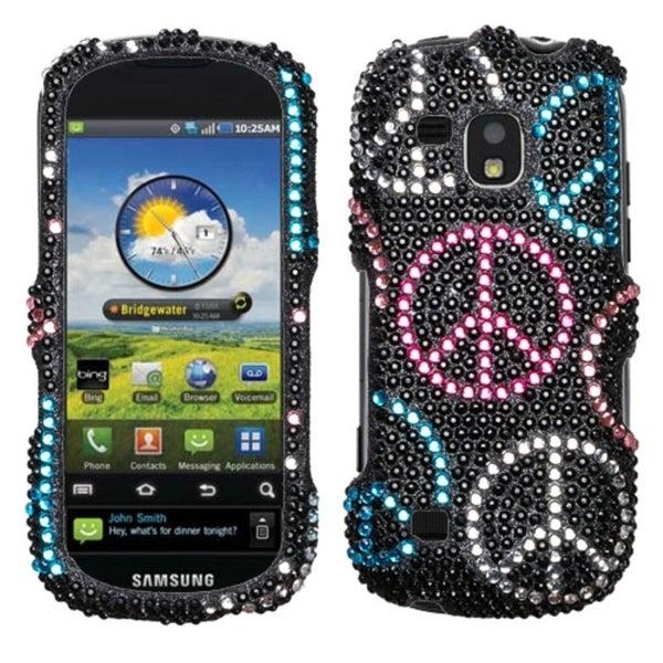 INSTEN Rainbow Bubbles Diamante Phone Case Cover for Samsung D710 Epic 4G Touch