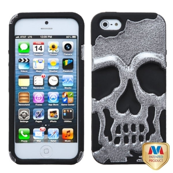 INSTEN Silver Plating Trousers/ Shoes Alloy Phone Case Cover for Apple iPhone 5