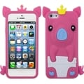 BasAcc Hot Pink Crown Piggie Pastel Skin Case for Apple� iPhone 5